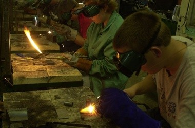 MLive file photo of students taking vocational classes in welding.