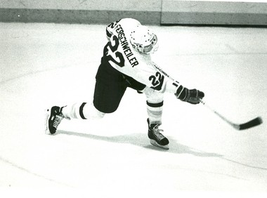 Western Michigan assistant coach Pat Ferschweiler played for the Broncos from 1990-93 and recorded 95 career points. He is now in his third year as an assistant coach for WMU.
