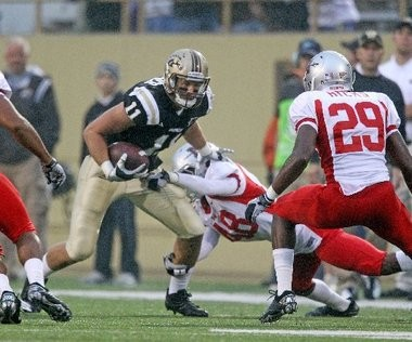 Former Western Michigan tight end Dallas Walker looks for running room in a 2010 game. Walker went undrafted after his senior year in 2011, but signed with the San Diego Chargers this past weekend.