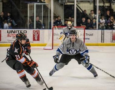 Incoming Western Michigan hockey defenseman Taylor Fleming, right, was one of the top scoring defensemen in the USHL last season.