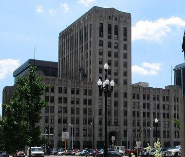 The former Detroit Free Press building