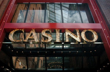 A casino sign in Greektown, Detroit. A federal appeals court ruling on Wednesday ordered the resurrection of a challenge to the protection of casino revenues in Detroit's bankruptcy case.
