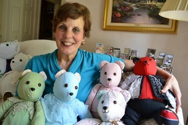 Joan Jonckheere, 66, of Okemos, started her own business after retiring as a nurse. She makes and sells custom stuffed bears out of loved ones' clothes, quilts and other materials through her business Memory Bears LLC.
