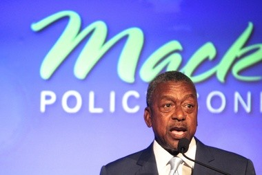 Robert L. Johnson, founder of Black Entertainment Television, spoke with attendees of the Mackinac Policy Conference on Wednesday, May 29.