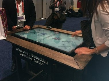 MultiTouch exhibited a touch sensor game table, called MultiTouch, with Windows 8 technology at the 2013 International Consumer Electronics Show in Las Vegas.