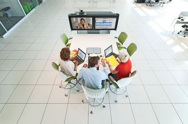 Steelcase, which makes furniture to encourage video conferencing, credits the technology for reducing its carbon footpring.