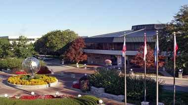 Amway's sprawling global headquarters are located in Ada, Michigan.