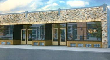 Rendering of Louise Earl Butcher shop at 1106 Wealthy