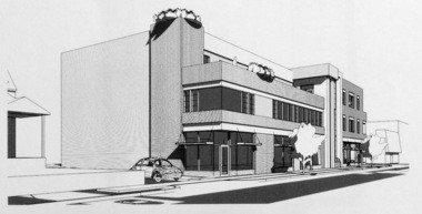 A preliminary sketch of what could be built at 1059 Wealthy Street.