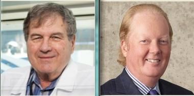 Dr. George Vande Woude, left, and David Van Andel