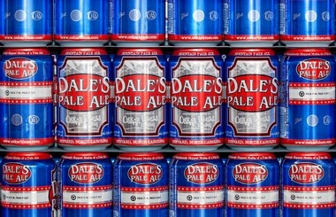 Cans of Oskar Blues' signature Dale's Pale Ale.