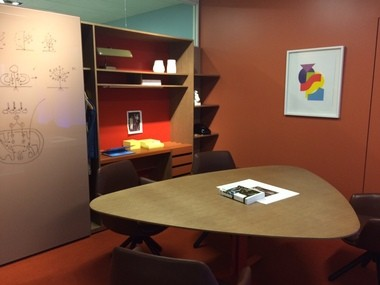 An executive suite in the Haworth showroom at NeoCon 2015.