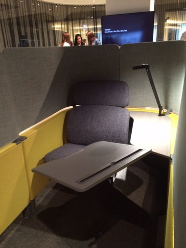 The Brody WorkLounge on display in Steelcase's NeoCon showroom.