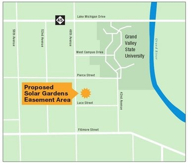 Gvsu Campus Map 2016.Solar Garden Will Give All Consumers Energy Customers Access To