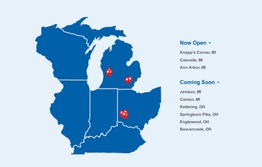 The eight new Meijer stores that will offer Curbside service over the next few months. (courtesy image)