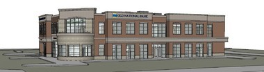 Old National Bank's new West Michigan headquarters will have retail banking on its ground floor and executive offices on its second floor.