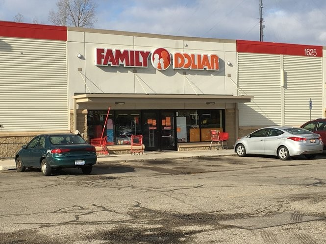 This Family Dollar at 1625 Leonard Street NE in Grand Rapids is among 18 stores that will be closed by Dollar Express.