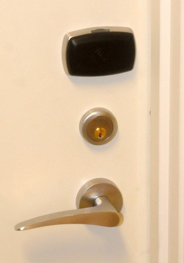 Instead of door keys, residents have radio frequency wristbands that are digitally encoded to unlock their suites.