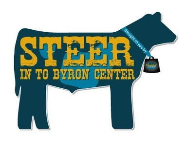"The first ""Steer In To Byron Center"" competition, featuring 40 decorated foam steer cutouts, is set for May 13 - 20 downtown."