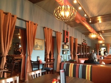 The inside of Handsome Hobo Pizzeria is welcoming and inviting. I loved it.