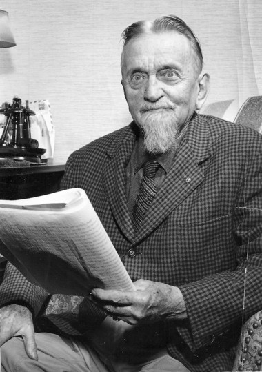 "A photo of Montague's ""philosopher-scientist"" Joseph A. Sadony taken in 1960, just months before his death on July 2 -- a date he was said to have predicted years before."