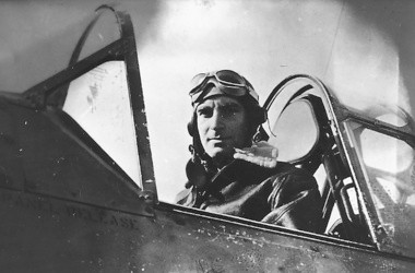Muskegon's Ira Cassius 'Ike' Kepford pictured in the cockpit of a Vought F4U Corsair fighter during World War II. Kepford was the U.S. Navy's top F4U ace with 17 (some sources say 16) confirmed victories.