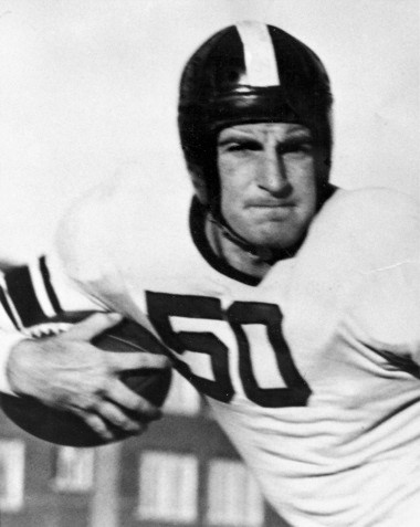 """A three-sport star for Muskegon High School, Ira Cassius """"Ike"""" Kepford was a two-way player for three seasons at Northwestern University in Evanston, Ill. The 5-11, 178-pound Kepford was primarily a blocking back on offense and played in the defensive backfield."""