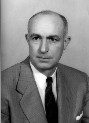 """Ira Cassius """"Ike"""" Kepford, shown here in 1957, was a successful businessman following the war, rising to become president of the Liggett-Rexall chain of drug stores."""