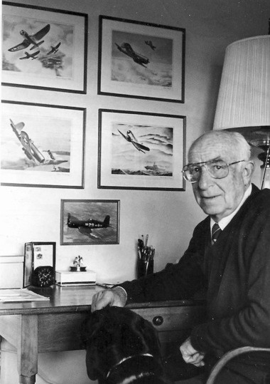 """""""Ike"""" Kepford shown in his Harbor Springs home in 1985, two years before his death at age 68."""