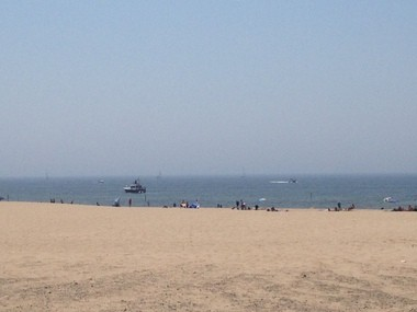 The crowd at the Muskegon State Park on Friday afternoon consisted mostly of sunbathers and boat enthusiasts.