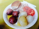 Menu includes: Boiled salmon and trout, boiled redskin potatoes and onions, slice of tomato, roll, butter, and coffee or water for $10 donation at the White Lake Area Sportfishing Association's 32nd annual Bill Gillan Memorial Community Fish Boil Saturday, August 16.