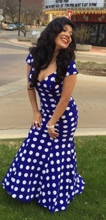 32831deb7dc Mireya Briceno in her prom dress. Muskegon High School staff told her the  dress violated
