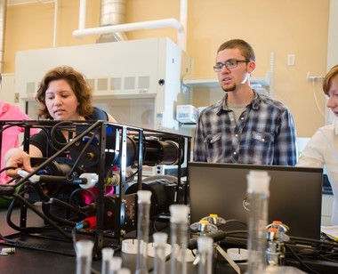 Colleen Mouw, left, is one of 105 researchers named by President Barack Obama as a recipient of the Presidential Early Career Awards for Scientists and Engineers.