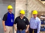 Consumers Energy employees are transitioning out of the B.C. Cobb plant. From left to right are B.C. Cobb Business Manager Norm Kapala, longtime Cobb Plant employee and President of Local 103 of the Utility Workers Union of America Dean Smith, and Consumers Energy vice president of Generation Operations John Broschak.