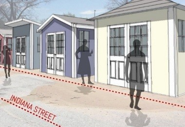 Shed concept for Pere Marquette beach.