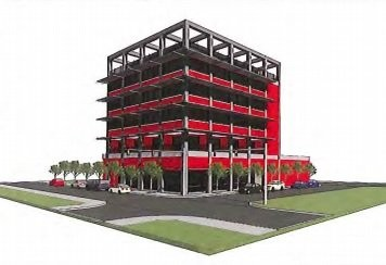 This rendering of the redeveloped Ameribank building was included in Port City Construction's proposal forwarded to the city and included in the Muskegon City Commission's board packet.