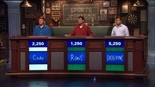 """Cody Liverance, left, answers a question during his appearance on """"Sports Jeopardy!,"""" which airs Wednesday, June 24 on the Crackle digital network."""