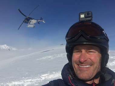 Besides running, Paul Bultema is into extreme skiing and recently made a trip to Whistler, British Columbia.