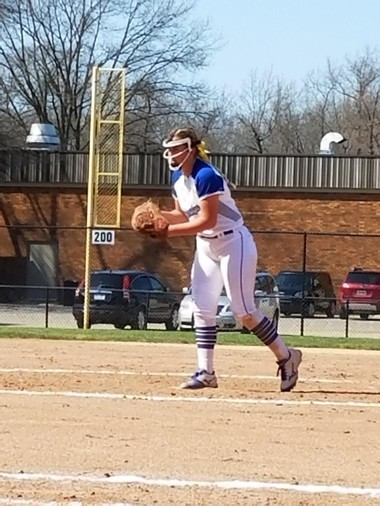 Oakridge pitcher Kayla Fessenden goes to work during the GMAA tourney Saturday at Holton.