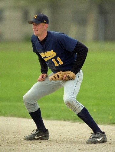 Drew Naymick played first base and batted in the middle of the order at North Muskegon High School.