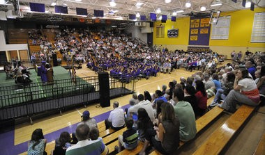 Concord High School gym was close to capacity for Commencement Exercises for the Class of 2013. (Scott Stoner | M LIVE)