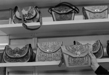 Detailed leather purses lined an entire wall of Southern Michigan Prison's Hobbycraft Sales shop. (File photos | Mlive.com)