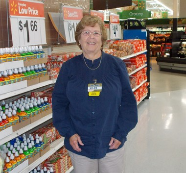 Walmart greeter Wilma Thomasson celebrated her 30-year anniversary with the company Nov. 18.