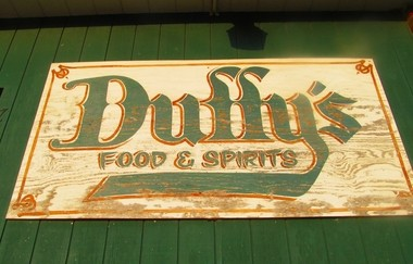 The familiar sign outside Duffy's Food & Spirits, 751 N. Waterloo Ave., Jackson. (MLive file photo)