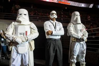 "Detroit Pistons ""Star Wars"" night on December 12, 2015 at the Palace of Auburn Hills. (Photo: Chris Schwegler)"
