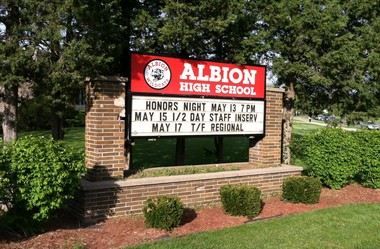 Albion Public Schools Board of Education members Tuesday voted to discontinue teaching high school students as a way to address a $1.1 million deficit.
