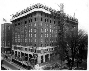 The Consumers Energy headquarters, designed by renowned architect Albert Kahn, takes shape in 1926.