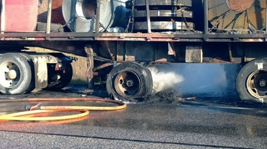 Chelsea Area Fire Authority firefighters responded to a semi-trailer on I-94. Nobody was injured. (Jon Szerlag | MLive)
