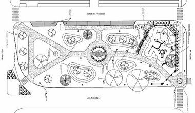 An engineer's rendering of updates done to Jackson's Austin Blair Park, 600 S. Jackson St.