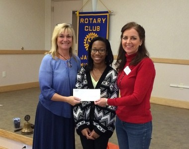 Pictured here during the presentation of the check for $3,000 from the Rotary Club of Jackson are from left, Kriss Giannetti, Energizing Education coordinator; Ebone' Worthey, (Americore-Vista) Energizing Education communications and logistics coordinator; and Shelly Kasprzycki, Rotary Club of Jackson's public image chairwoman. (Courtesy Photo)